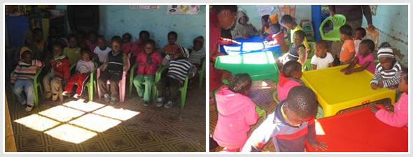 Creche with new tables and chairs